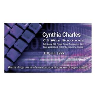 Web Design-1 Business Card template (periwinkle)