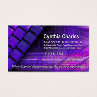 Web Design-1 Business Card template (purple)