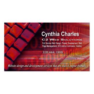 Web Design-1 Business Card template (red)