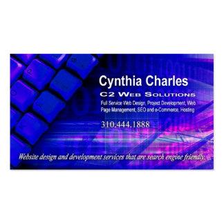 Web Design-1 Business Card template royal blue