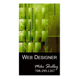 Web Design-2 Business Card template (acid green)
