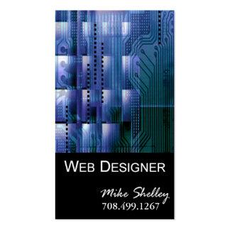 Web Design-2 Business Card template (blue)