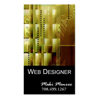 Web Design-2 Business Card template (gold)