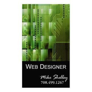 Web Design-2 Business Card template (green)