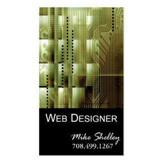 Web Design-2 Business Card template (olive)