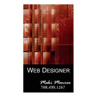 Web Design-2 Business Card template (orange)