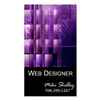 Web Design-2 Business Card template (purple)