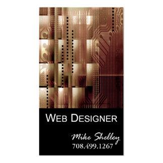 Web Design-2 Business Card template (tan)