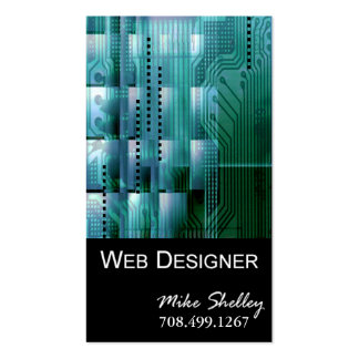 Web Design-2 Business Card template (teal)