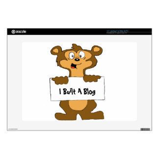 "Web Design Bear Skin For 15"" Laptop"