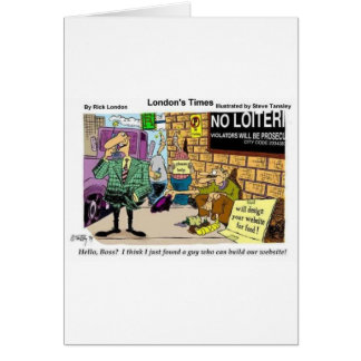 Web Design Beggar Funny Gifts Tees & Collectibles Cards