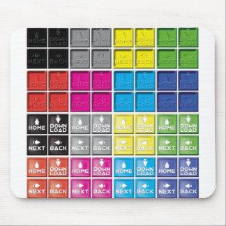 Web design icons mouse pad