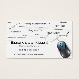 Web Design Mouse with Coding Business Cards