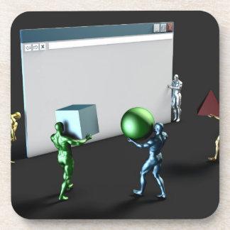 Web Design Services and Business Website Beverage Coaster