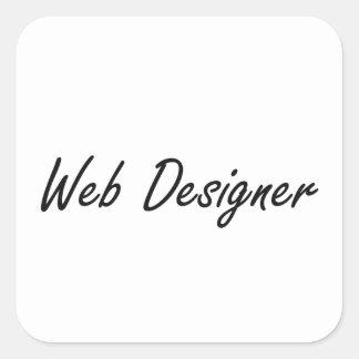 Web Designer Artistic Job Design Square Sticker