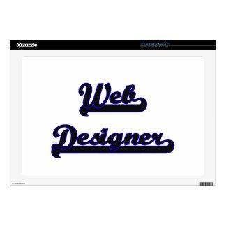 Web Designer Classic Job Design Laptop Decals