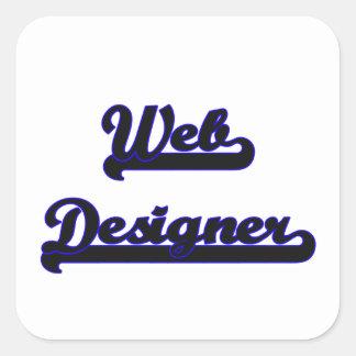 Web Designer Classic Job Design Square Sticker