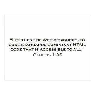 Web Designer / Genesis Postcard