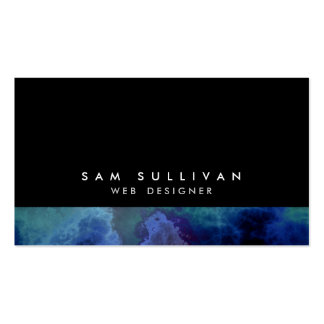 Web Designer Internet Skills Abstract Blue Cloud Double-Sided Standard Business Cards (Pack Of 100)