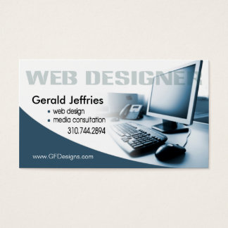 Web Designer Media Consultant Computer Whiz Business Card