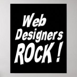 Web Designers Rock! Poster Print