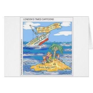 Web Designers Terror Cruise Ship Funny Gifts & Tee Card
