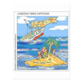 Web Designers Terror Cruise Ship Funny Gifts & Tee Postcard