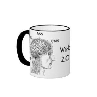 Web Developer 2.0 - Coffee Mug, RSS, CMS, PHP, XML Ringer Mug