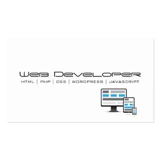 Web developer business card