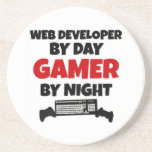 Web Developer by Day Gamer by Night Coaster