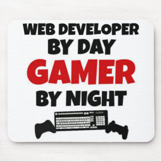 Web Developer by Day Gamer by Night Mouse Pad