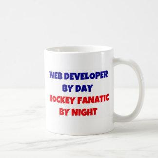 Web Developer by Day Hockey Fanatic by Night Classic White Coffee Mug