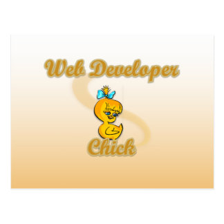 Web Developer Chick Postcard