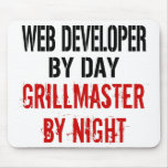 Web Developer Grillmaster Mouse Pad
