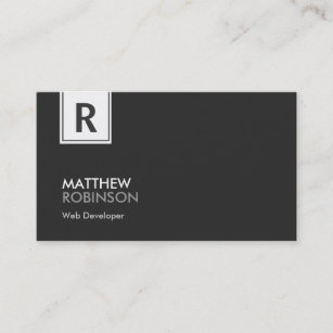 Web developer business cards zazzle web developer modern classy monogram business card colourmoves