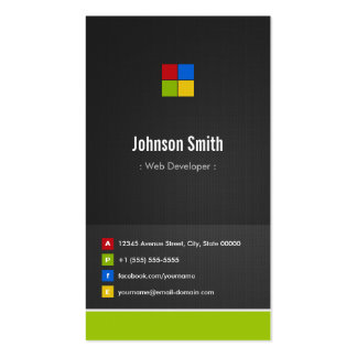 Web Developer - Premium Creative Colorful Double-Sided Standard Business Cards (Pack Of 100)