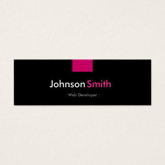 Web Developer - Rose Pink Compact Mini Business Card