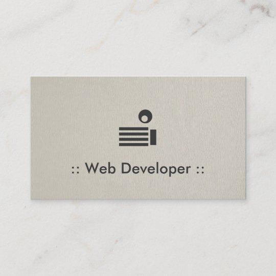 Web developer simple elegant professional business card zazzle web developer simple elegant professional business card colourmoves