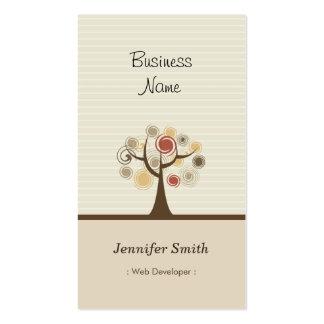 Web Developer - Stylish Natural Theme Business Card
