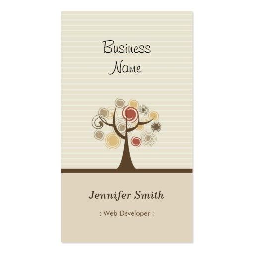 Web Developer - Stylish Natural Theme Business Card Templates