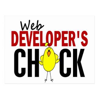 Web Developer's Chick Postcard