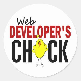 Web Developer's Chick Sticker