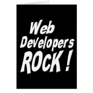 Web Developers Rock! Greeting Card