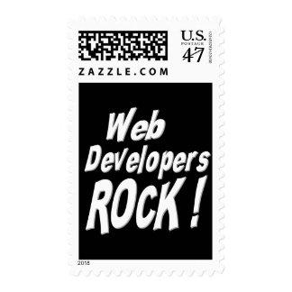 Web Developers Rock ! Postage Stamp