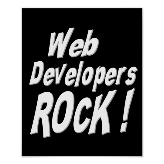 Web Developers Rock! Poster Print