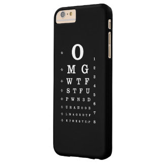 web  Dictionary Eye Chart iPhone Case Barely There iPhone 6 Plus Case