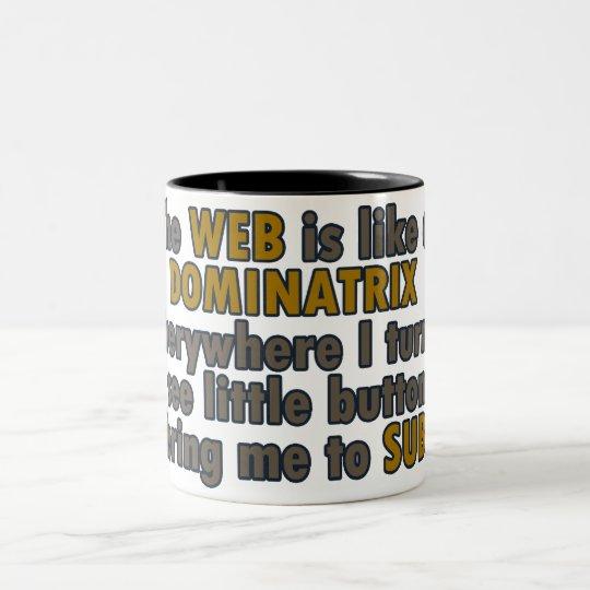 Web Dominatrix Two-Tone Coffee Mug