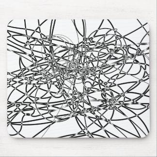 Web enredado alfombrillas de raton