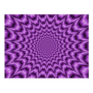 Web explosivo en postal púrpura