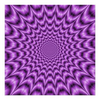 Web explosivo en púrpura fotografia